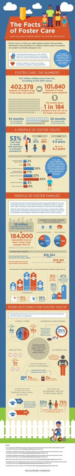 The Facts of Foster Care infographic